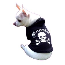 Monster Dog Hoodie in Black