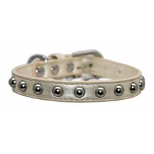 Silver Stud Dog Collar in Pearl