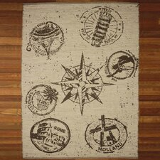 Country Stamp Print Rug