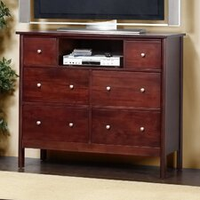 Costa 6 Drawer TV Media Chest