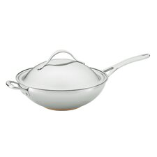 "Nouvelle 12"" Covered Stir Frying Pan with Helper Handle"