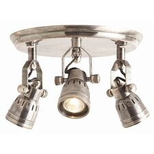 Trey 3 Light Vintage Flush Mount Fixture