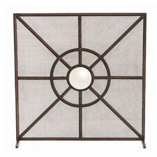 Gemma 1 Panel Iron Fireplace Screen