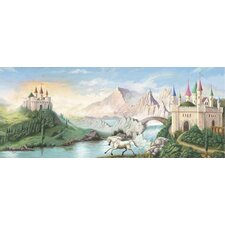 Enchanted Kingdom Castle Mural in Multi