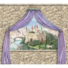Enchanted Kingdom Castle Canopy Mural in Multi