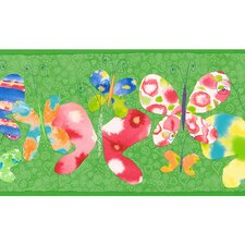 Whimsical Children's Vol. 1 Butterfly Border in Green