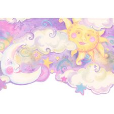 Whimsical Children's Vol. 1 Celestial Border in Purple
