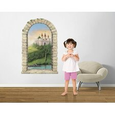 Castle on a Hill Window Wall Decal