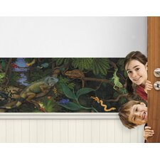Iguanas and Lizards Mural Style Border
