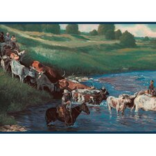 Lodge Décor The Cattle Drive Border