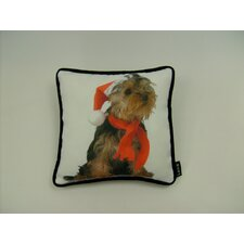 Lava Holiday Yorkie Pillow