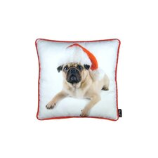 Holiday Pug with Hat Pillow
