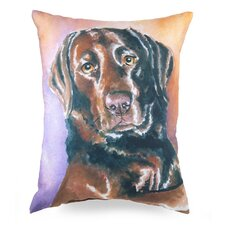 Lava Painted Lab Pillow