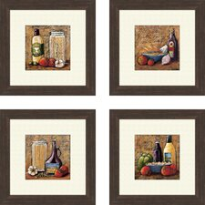 Rustic Kitchen Framed Art (Set of 4)