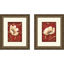 Floral Fantasy Framed Art (Set of 2)
