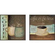 Kitchen Coffee Label Framed Art