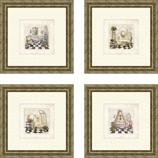 Bath Salon de Bain Framed Art (Set of 4)