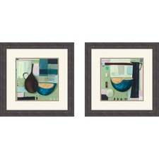 Contemporary Golden Bowl Framed Art (Set of 2)