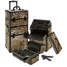 Professional 2-1 Rolling Cosmetic Makeup Train Case
