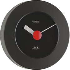 Caliber Sports Wall Clock in Black