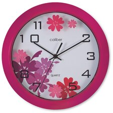 Caliber Designer Wall Clock in Pink