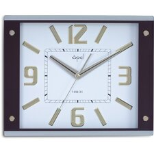 Opal Bold Numbered Big Size Clock in White