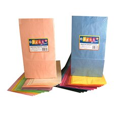Colorful Paper Bags 8.5x11 White 50