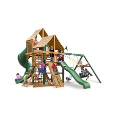 Great Skye I Swing Set with Western Ginger Sunbrella Canopy