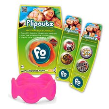 Flipoutz Bracelet with One Coin and Two Additional Coin Pack in Hot Pink