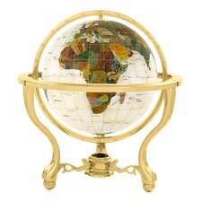 "9"" Full Mop Commander Globe with Three Leg Stand in Gold"