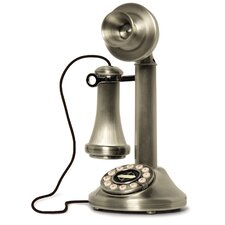 The Candlestick Phone in Brushed Chrome