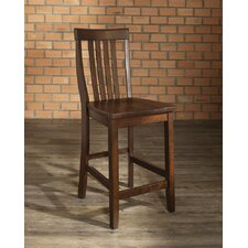 "School House 24"" Barstool in Vintage Mahogany"