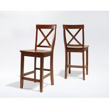 "X-Back 24"" Barstool in Classic Cherry"