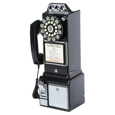 1950's Classic Pay Phone in Black