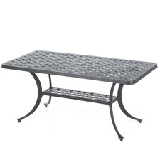 Sedona Cast Aluminum Rectangular Coffee Table