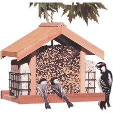 Deluxe Chalet Feeder with Suet