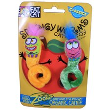 Springy Worms Catnip Cat Toys