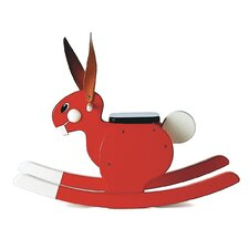 Rocking Rabbit in Red