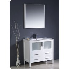"Torino 35.8"" Modern Bathroom Vanity Set with Undermount Sink"