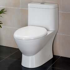 Serena Dual Flush Elongated 1 Piece Toilet