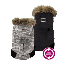 Canada Fouse Camo Reversible Winter Coat for Dogs