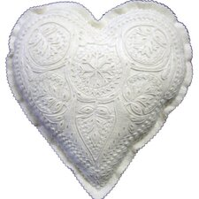 Great Plain Hungarian Motif Heart-Shaped Pillow