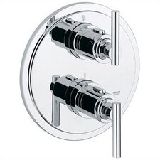 Atrio Integrated Thermostatic and Volume Control Trim with Lever Handle and Rough-In Valve