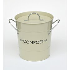 Compost Bucket with Liner in Champagne