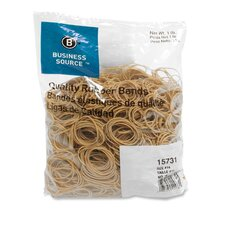 Rubber Bands, Size 14, 1 lb Bag, Natural Crepe