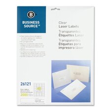 "Laser Labels, Return Address, 1/2""x1-3/4"", 2000 per Pack, Clear"