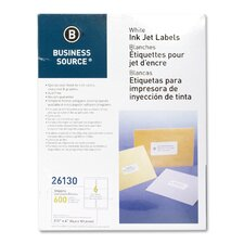 "Mailing Labels, Shipping, Inkjet, 3-1/3""x4"", 600 per Pack, White"