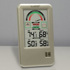 Comfort Meter with Indoor/Outdoor Temperature and Humidity Monitor