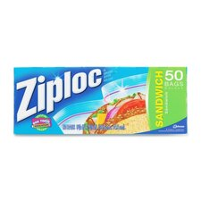 "Ziploc Sandwich Bags,Resealable,1.2ml,6-1/2""x6"",50/BX,CL"