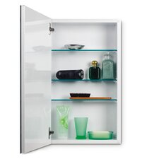 Metro Flat Trim Cabinet with Three Glass Shelves